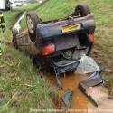 2012_04_15 Auto over de kop A2 Nederweert 150