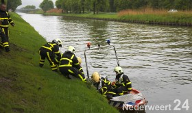 Hert verdronken in Zuid Willemsvaart Nederweert