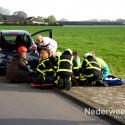 Ongeval Kruisstraat - Eind Nederweert eind, twee auto's achter op elkaar